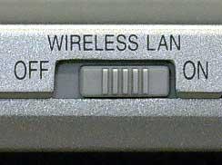 CF-W4G、T4Gシリーズの「Wireless LAN」スイッチ